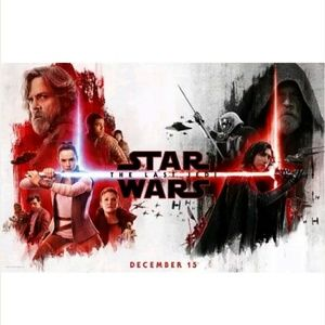 Rare Star Wars The Last Jedi Exclusive Poster